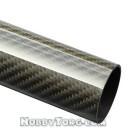 Трубка карбоновая 10х8мм, длина 1000мм (3K Twill плетение)